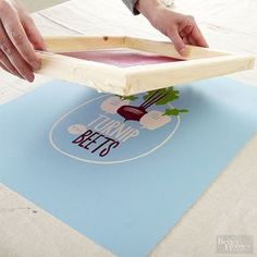 How to screen print multiple colors - Better Homes and Gardens Screen Printing Paper, Diy Shirt Printing, Screen Printing Shirts, Transfer Printing, Heat Transfer, Textiles, Impression Textile, Cricut Creations, Art Plastique