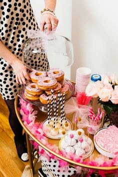 A girly bar cart! http://www.stylemepretty.com/living/2015/11/03/5-tips-for-a-party-ready-bar-cart/