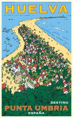 Campaña gráfica turismo Huelva por Oscar Mariné