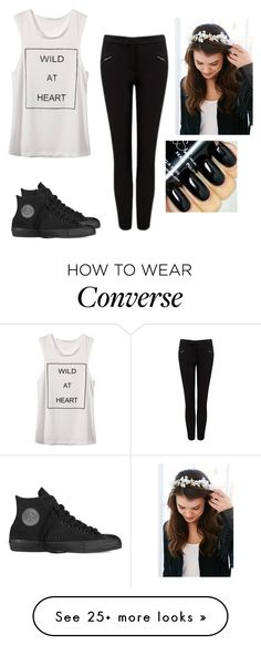 """""""Heart"""" by hannahmcpherson12 on Polyvore featuring Forever New, Converse, women's clothing, women, female, woman, misses and juniors"""