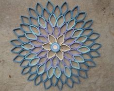 Lavender blue home decor Large round wall hanging Paper dahlia wall art art Bedroom Living room wall art - Lavender blue home decor Large round wall hanging Paper dahlia wall art art Bedroom Living room wall art Teal Wall Decor, Grey Home Decor, Modern Wall Decor, Modern Art, Toilet Paper Crafts, Paper Roll Crafts, Paper Dahlia, Paper Flowers, Paper Trees