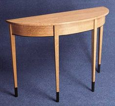 DIY Build a Demi Lune Table - The Woodworkers Institute
