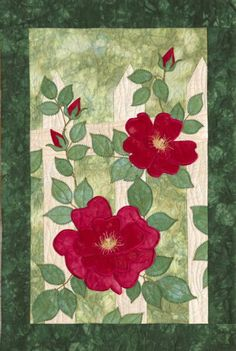"""gorgeous! """"wild rose"""" art quilt by janet pittman"""
