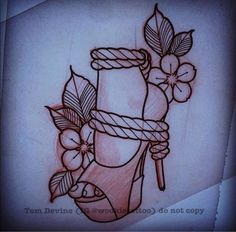 Wings Tattoo Ideas And Their Meanings High Heel Tattoos, Shoe Tattoos, Body Art Tattoos, Tattoo Drawings, Sleeve Tattoos, Hand Tattoos, Female Tattoos, Sharpie Tattoos, Tattoo Sketches