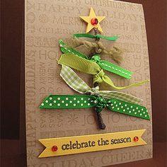 Ribbon Tree Christmas card