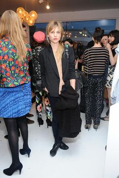 Clemence Poesy with her Balenciaga city 2012