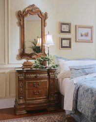 Pulaski Royale Low Poster Bed Bedroom Set With Stone Top Nightstand | Dream  Home | Pinterest