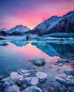 Tasman Glacier Lake, Mt Cook National Park, New Zealand