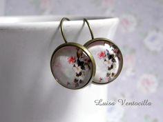 Cabochon Ohrhänger ♥Blumenmeer♥ 16 mm von Luisa Ventocilla Shop auf DaWanda.com