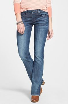 Free shipping and returns on Vigoss 'Chelsea' Bootcut Jeans at Nordstrom.com. Inky, dimensionally faded denim shapes these mid-rise bootcut jeans easily styled with slightly distressed edges and signature seat pocket stitching.