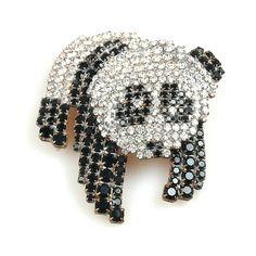 Panda Brooch. Amazing rhinestone panda brooch pin. $32.90