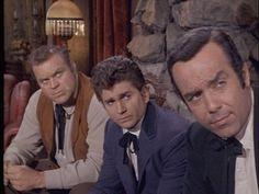 """Bonanza"" - Hoss, Little Joe, and Adam Cartwright (Dan Blocker, Michael Landon, and Pernell Roberts)"