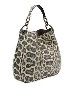 Bottega Veneta Loop Anaconda Hobo Bag