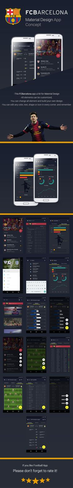 This football app ui kit for Material Design..I'd appreciate suggestions/feedback.You can download the PSD here:http://goo.gl/8526b0