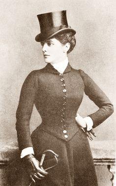 Lady Randolph (Jennie Jerome) Churchill in riding habit