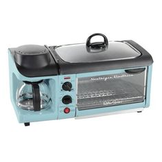 Van Life Discover Nostalgia Retro Breakfast Center 1500 W Blue Toaster Oven with Built-In Timer - The Home Depot Nostalgia Retro Breakfast Center 1500 W Blue Toaster Oven with Built-In Timer - The Home Depot Retro Toaster, Small Appliances, Kitchen Appliances, Kitchens, Kitchen Gadgets, Tiny House Appliances, Home Depot, Breakfast Station, Travel Accessories