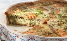 Lohipiirakka Quiche, Sandwiches, Goodies, Pizza, Baking, Breakfast, Desserts, Recipes, Christening