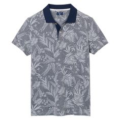 Buy Cool Shirts Palm Tree Patch Pocket Print Pique Polo
