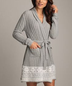Another great find on #zulily! Oxford Snowflake Boucle Robe - Women by Lemon Legwear #zulilyfinds