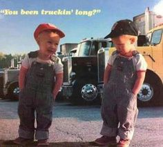 Young Truckers! #truckers #trucking #kids
