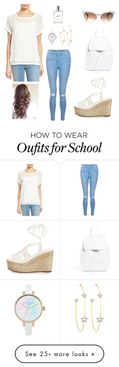 """""""All White"""" by anandiek on Polyvore featuring Mansur Gavriel, Bobeau, New Look, Chloé, PERLOTA, Gucci and philosophy"""