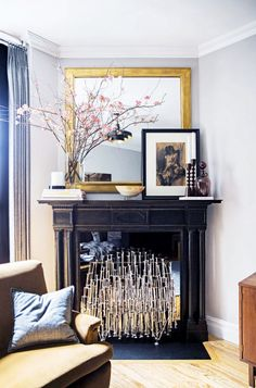 Don't be afraid to place art in front of other larger pieces of furniture or decor