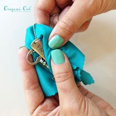 We love carrying a small polishing cloth in our purses for on-the-go touch ups!