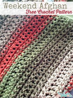 Make It: Fast & Easy Weekend Afghan - Free Crochet Pattern #crochet #free #ravelry