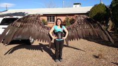 Full sized Maleficent wings by TheGriffinQueen.deviantart.com on @DeviantArt