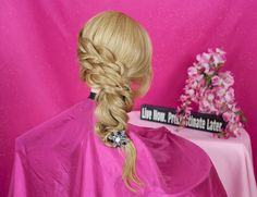 Easy Elastics Side Braided  Hairstyle