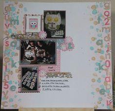 """""""Make & Take"""" layout by Carol Theng"""