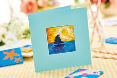 Achieve mosaic-style designs with Pixelhobby. Find out how in the August issue of Crafts Beautiful on sale June 2018 Hobbies And Crafts, Arts And Crafts, Paper Crafts, Crafts Beautiful, Creative Inspiration, Easy Crafts, Mosaic, 21st, June