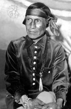 Formal portrait of Fred Kabotie, Hopi artist, who did the paintings for the desert view watchtower. Grca 22600. Circa 1932. Fred harvey photo.
