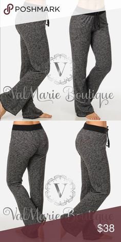 "French Terry Lounge Pant Gorgeous and mega comfy French Terry lounge pants! You absolutely need these. Fits true to size. 60% Cotton, 20% Poly, 20% Rayon. High waist.  Rise apprx 10"". Inseam apprx 31"". Leg opening apprx 18"".  S(2-4) M(6-8) L(10-12) XL(14-16) ValMarie Pants"