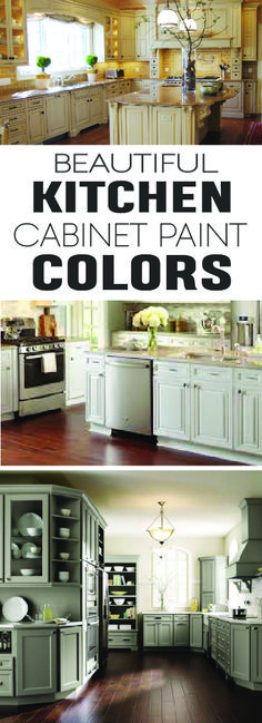 Beautiful Kitchen cabinet paint colors for this year! Love these great ideas!