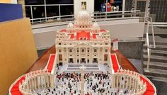 Pastor builds a Lego Replica of the Vatican prior to Pope's visit