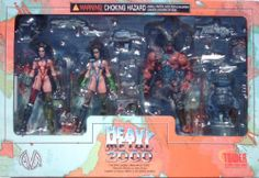 """Heavy Metal 2000 FAKK 2 Tower Record Exclusive 4 Pack 6"""" Action Figures Julie Strain by Moore Action Collectibles, Inc.. $44.95. Sculpted by Clayburn Moore and The Shiflett Brothers.. 6 inches tall action figure set includes; F.A.K.K. 2, F.A.K.K. 2 Holyland, Lord Tyler and Zeek with accessares.. Heavy Metal 2000 F.A.K.K. 2 - 4 figure set was a Tower Records Exclusive.. Character Designs by Simon Bisley. F.A.K.K. 2 Character modelled after and played by Julie Strain.. Made..."""