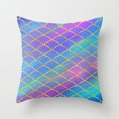 Painted Clouds Throw Pillows - Rainbow Couch Pillows - Sofa Pillows - Decorative Pillows