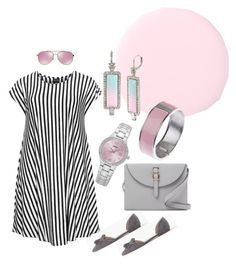 """""""A dash of pink is all you need ..."""" by rosemary-hmjs on Polyvore featuring Seiko, J.Crew, Choise, Meli Melo, Michael Kors, Betsey Johnson and Adele Marie"""
