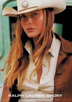 2000 RALPH LAUREN SPORT : BRIDGET HALL Magazine Print AD   | eBay