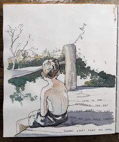 ideas drawing ink watercolor artists for 2019 Watercolor Sketchbook, Pen And Watercolor, Watercolor Artists, Art Sketchbook, Watercolor Paintings, Ink Drawings, Cool Drawings, Cartoon Drawings, Drawing Faces