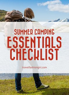 Looking for a summer camping essentials checklist? Find out what you need to bring on an overnight trip! Kids Checklist, Camping Checklist, Camping Essentials, Camping List, Camping World, Tent Camping, Camping Trailers, Camping Ideas, Camping With Kids