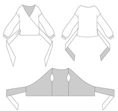 How to draft a wrap blouse – Step by step pattern making tutorial! How to draft a wrap blouse – Step by step pattern making tutorial! Dress Sewing Patterns, Blouse Patterns, Clothing Patterns, Blouse Sewing Pattern, Fashion Patterns, Apron Patterns, Techniques Couture, Sewing Techniques, Sewing Projects For Beginners