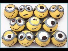 ▶ Cupcakes minions ,Despicable Me Minion Cupcake Topper - YouTube