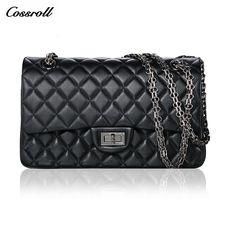 2017 new genuine leather sheepskin women handbag small square chain belt shoulder bag high quality women bag