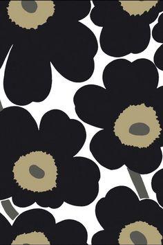 Marimekko Wallpaper, Flower Wallpaper, Mobile Wallpaper, Pattern Wallpaper, Iphone Wallpaper, Cool Wallpapers Patterns, Wall Stickers Cool, Botanical Interior, Apple Watch Wallpaper