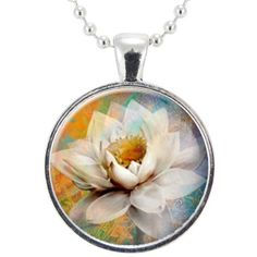 Lotus Blossom Flower Necklace (48 PEN) ❤ liked on Polyvore featuring jewelry, necklaces, flower necklace, blossom jewelry, yoga necklace, flower jewelry and flower pendant