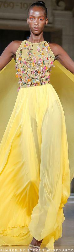 Rami Kadi Fall 2019 Couture Fashion Show Couture Fashion, Runway Fashion, Fashion Show, Womens Fashion, Couture Dresses, Fashion Dresses, Canary Yellow Dress, Kurta Designs Women, Mellow Yellow