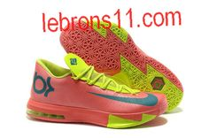 Kevin Durant 6 Fusion Pink Neon Green Gamma Blue Shoes