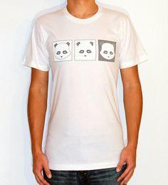 The Geek Panda Trifecta. 100% Fine Jersey cottonDurable rib neckbandForm-fittingScreen printed with environmental friendly water based ink